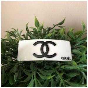 Authentic Iconic CHANEL CC Logo Hair Clip Barrette